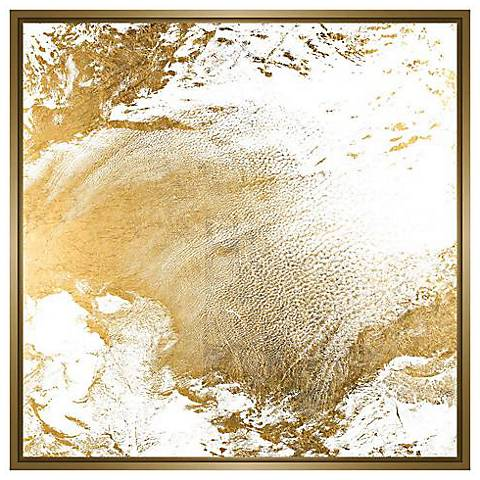 """Gold Clouds I 31 3/4"""" Square Canvas Wall Art"""
