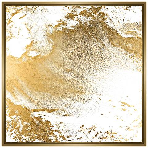 """Gold Clouds II 31 3/4"""" Square Canvas Wall Art"""