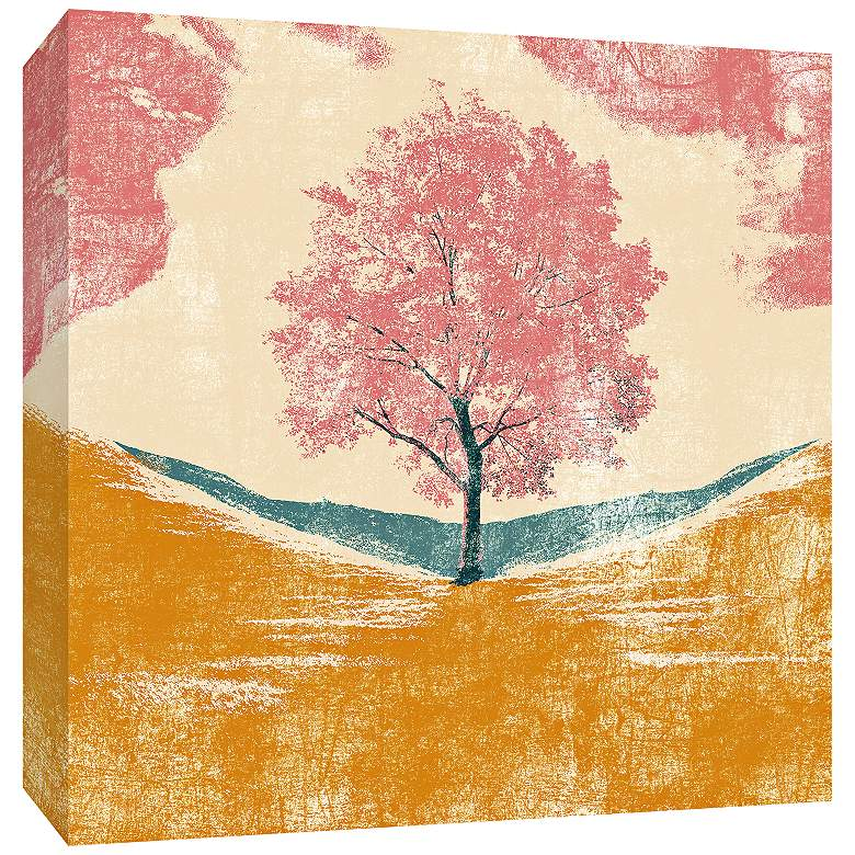 "Lonely Tree 36"" Square Canvas Wall Art"