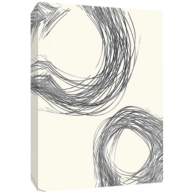 "Line Drawing Circles I 40"" High Canvas Wall Art"