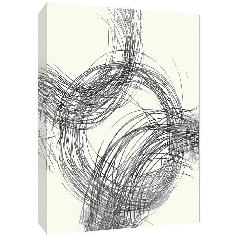 "Line Drawing Circles II 40"" High Canvas Wall Art"