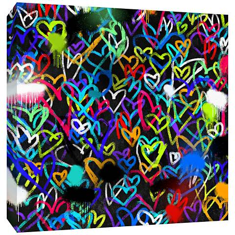 "Hearts II 36"" Square Canvas Wall Art"