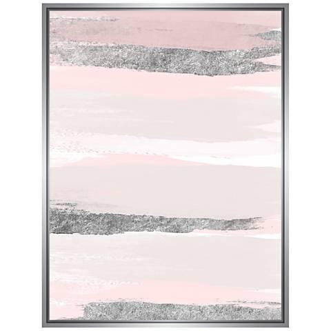 """A Pink Clouds 41 3/4"""" High Framed Canvas Wall Art"""