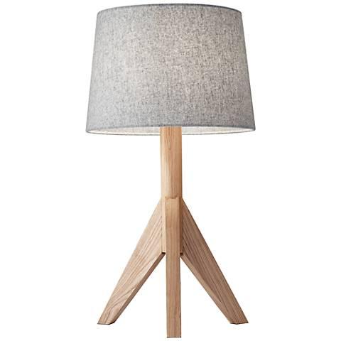 Eden Natural Ash Wood Tripod Table Lamp
