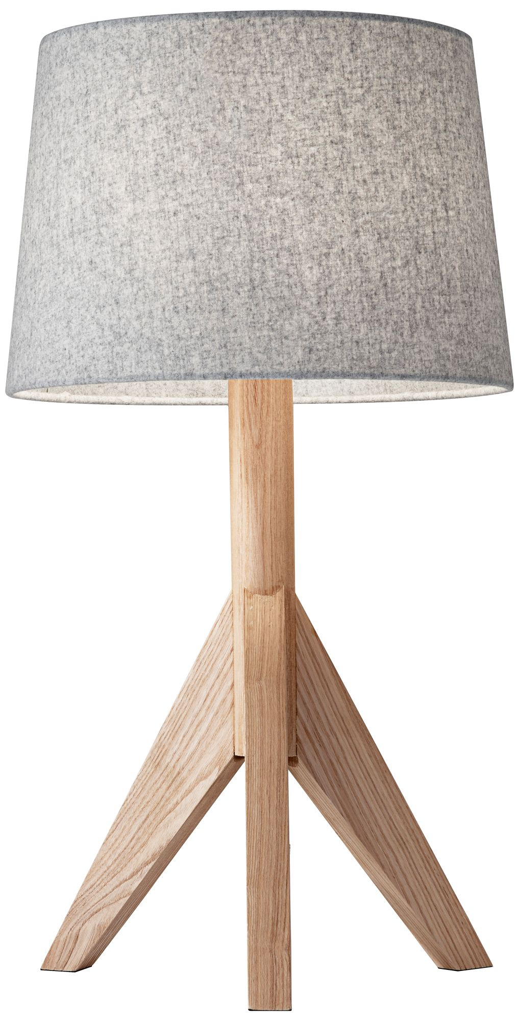 Superbe Eden Natural Ash Wood Tripod Table Lamp