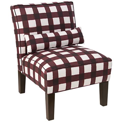 Metropol Buffalo Square Holiday Red Slipper Chair
