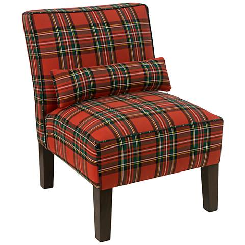 Metropol Ancient Stewart Red Fabric Slipper Chair