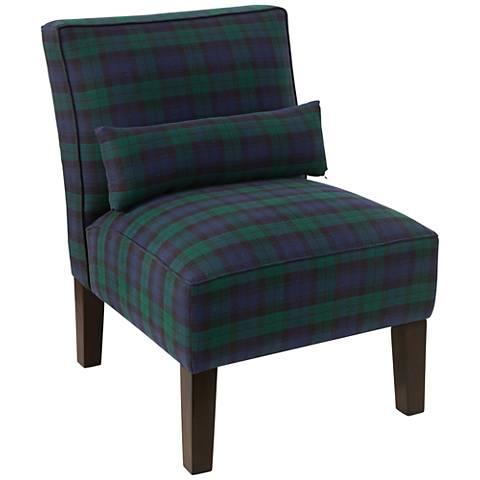 Metropol Blackwatch Fabric Slipper Chair