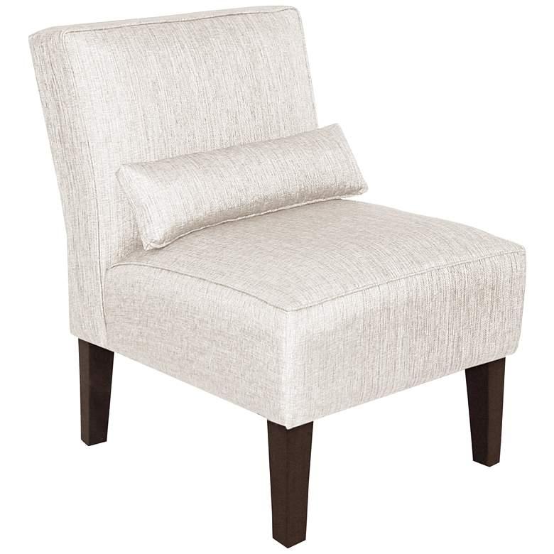 Metropol Groupie Oyster Fabric Slipper Chair