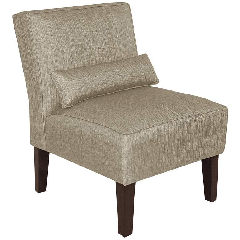 Metropol Groupie Pewter Fabric Slipper Chair