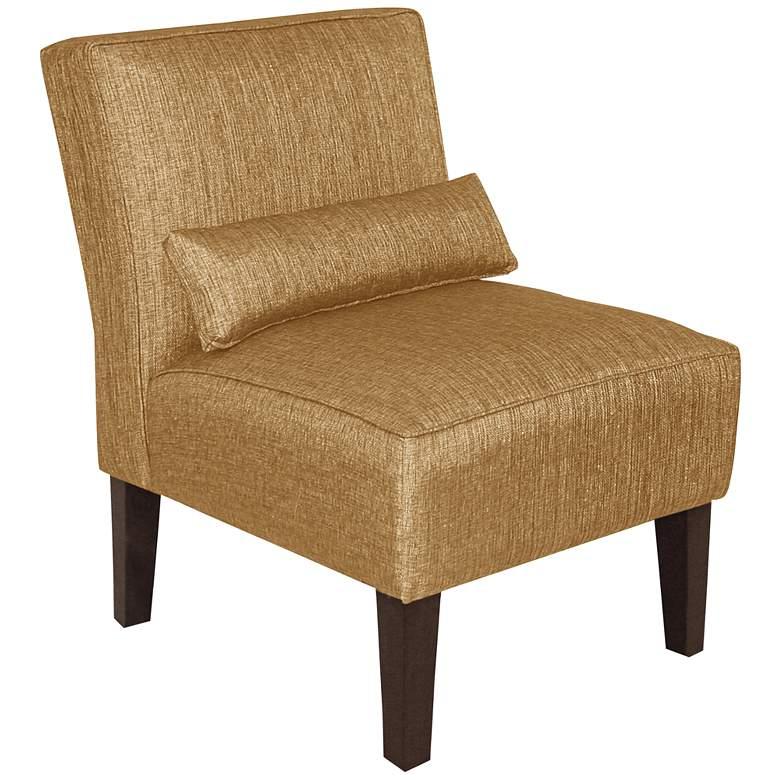 Metropol Glitz Filbert Fabric Slipper Chair