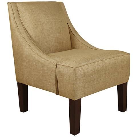 Uptown Glitz Filbert Fabric Swoop Armchair
