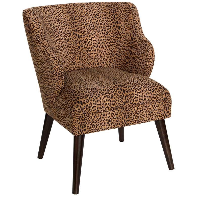 T-bird Cheetah Earth Fabric Armchair