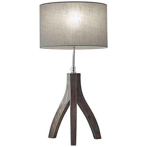 Sherwood Pine Wood Adjustable Tripod Table Lamp
