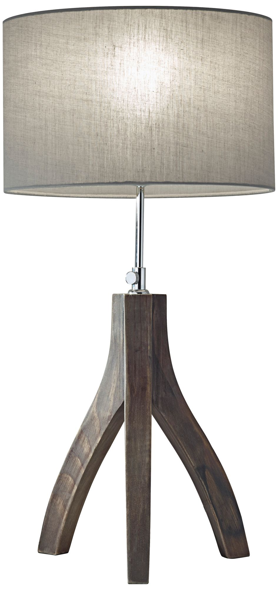 Bon Sherwood Pine Wood Adjustable Tripod Table Lamp