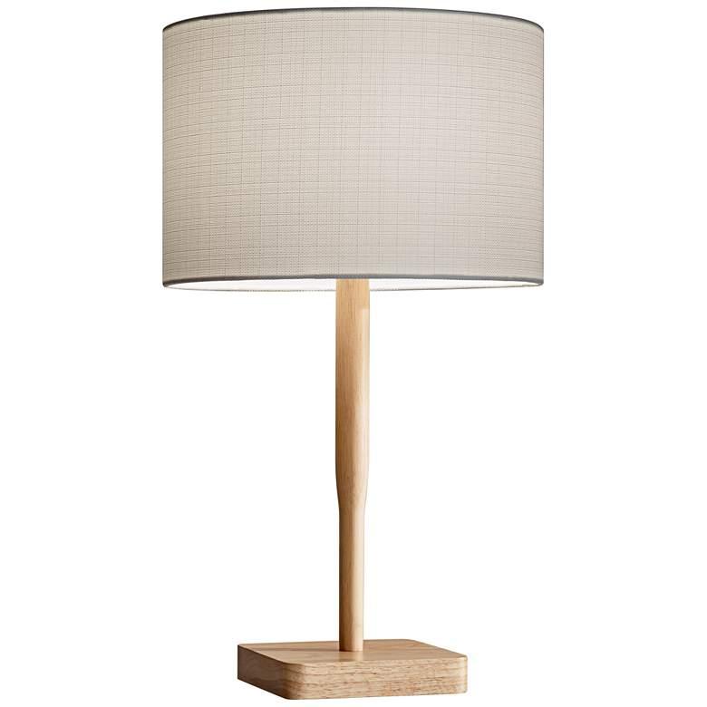Ellis Natural Rubberwood Table Lamp