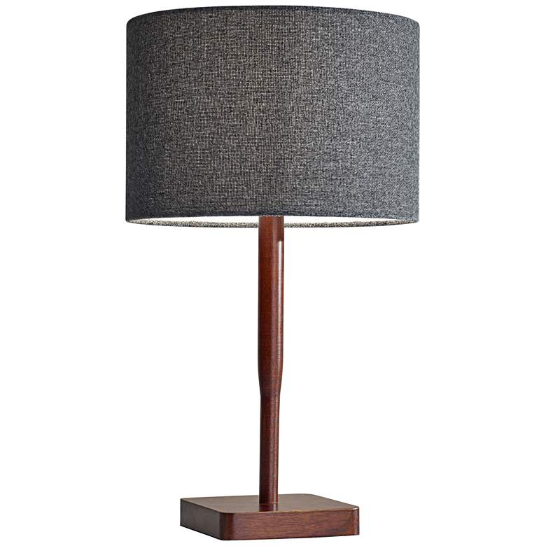 Ellis Walnut and Gray Modern Table Lamp