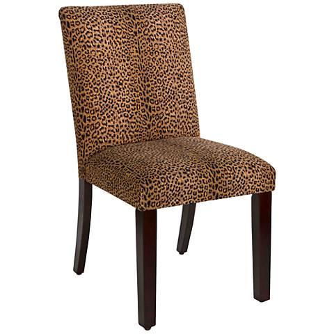 Main Street Cheetah Earth Fabric Dining Chair