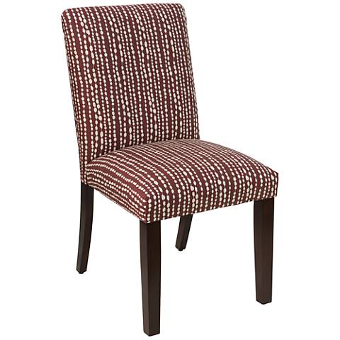 Main Street Line Dot Holiday Red Fabric Dining Chair