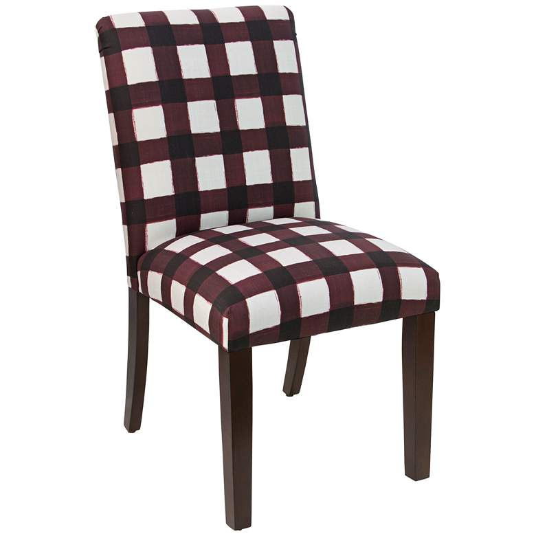 Main Street Buffalo Square Holiday Red Fabric Dining Chair