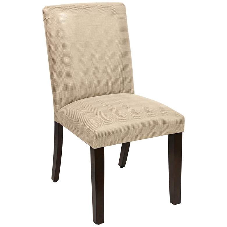 Main Street Polished Gold Fabric Dining Chair