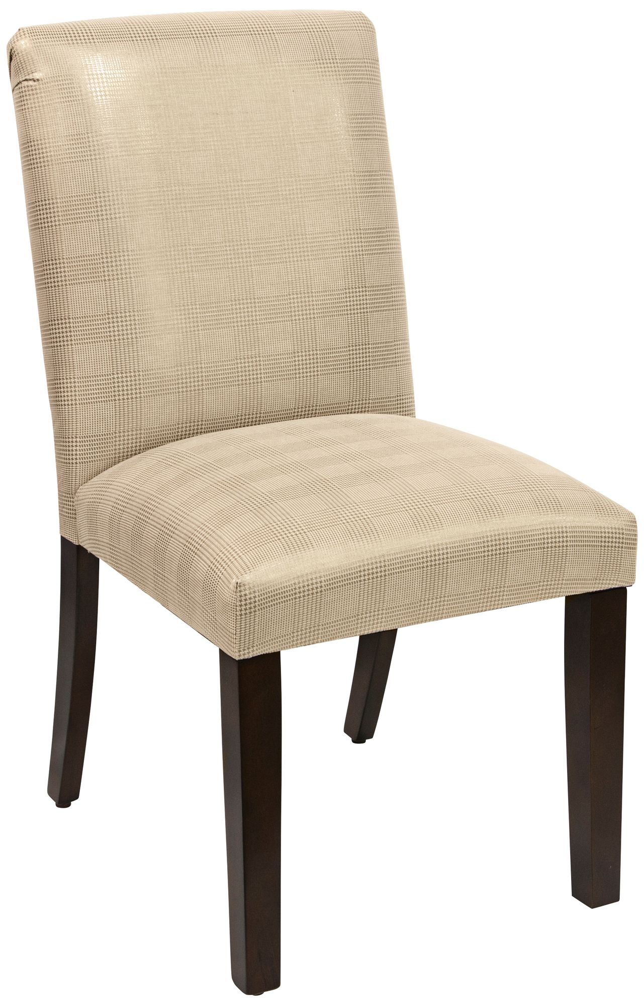 Superbe Main Street Polished Gold Fabric Dining Chair