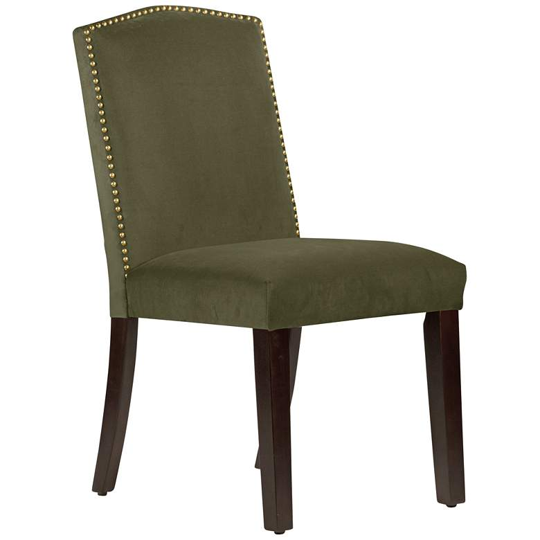 Calistoga Regal Moss Fabric Arched Dining Chair