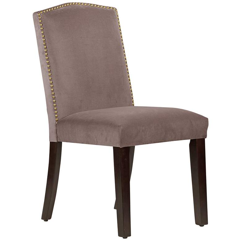 Calistoga Regal Smoke Fabric Arched Dining Chair