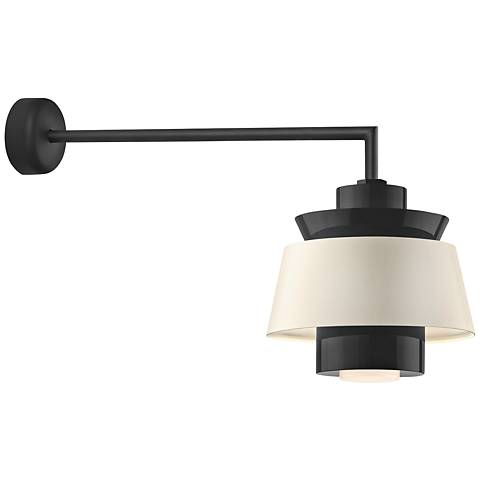 "RLM Aero 12 1/4"" High Black LED Outdoor Wall Light"