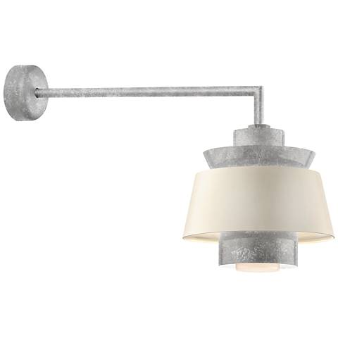 "RLM Aero 12 1/4"" High Galvanized LED Outdoor Wall Light"