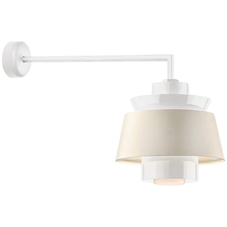 "RLM Aero 12 1/4"" High Gloss White LED Outdoor Wall Light"