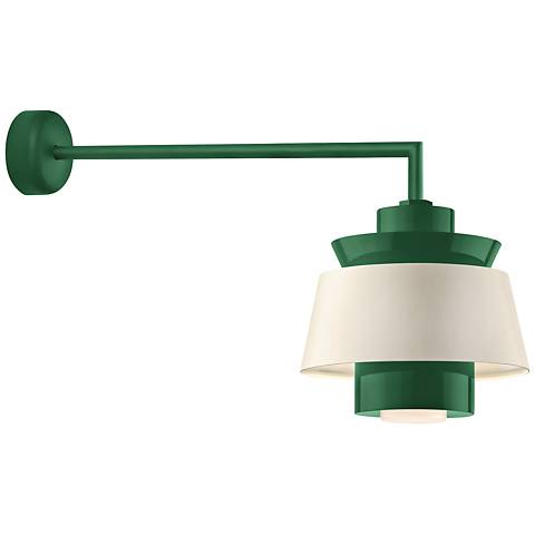 "RLM Aero 12 1/4"" High Hunter Green LED Outdoor Wall Light"