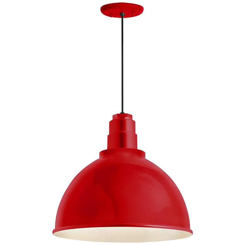"RLM Deep Reflector 12""H Red Outdoor Hanging Light"