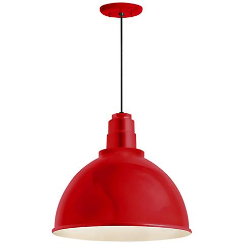 "RLM Deep Reflector 12""H Red Outdoor Hanging Light"