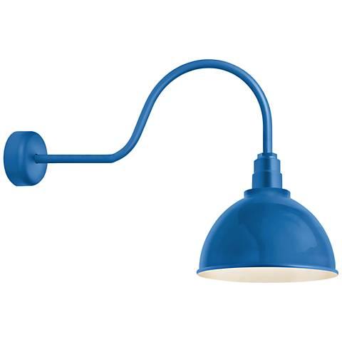 """RLM Deep Reflector 24"""" High Blue Outdoor Wall Light"""