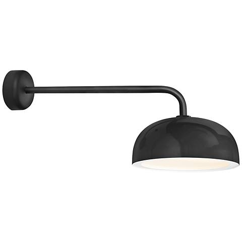 "RLM Dome 12 3/4"" High Black Outdoor Wall Light"