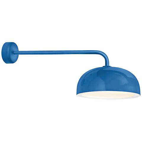 "RLM Dome 12 3/4"" High Blue Outdoor Wall Light"