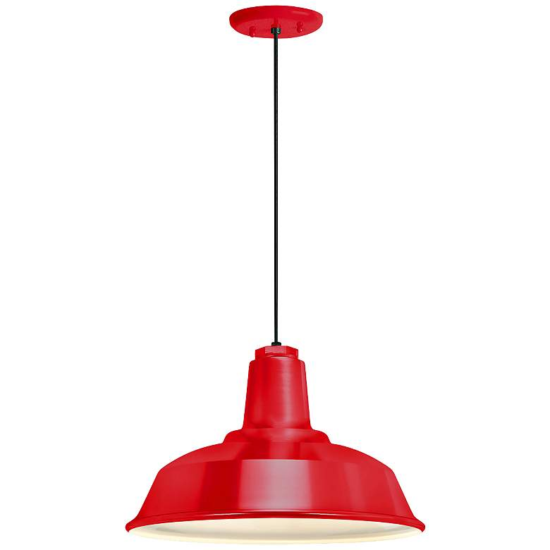 "RLM Heavy Duty  8 1/4""H Red Outdoor Hanging Light"