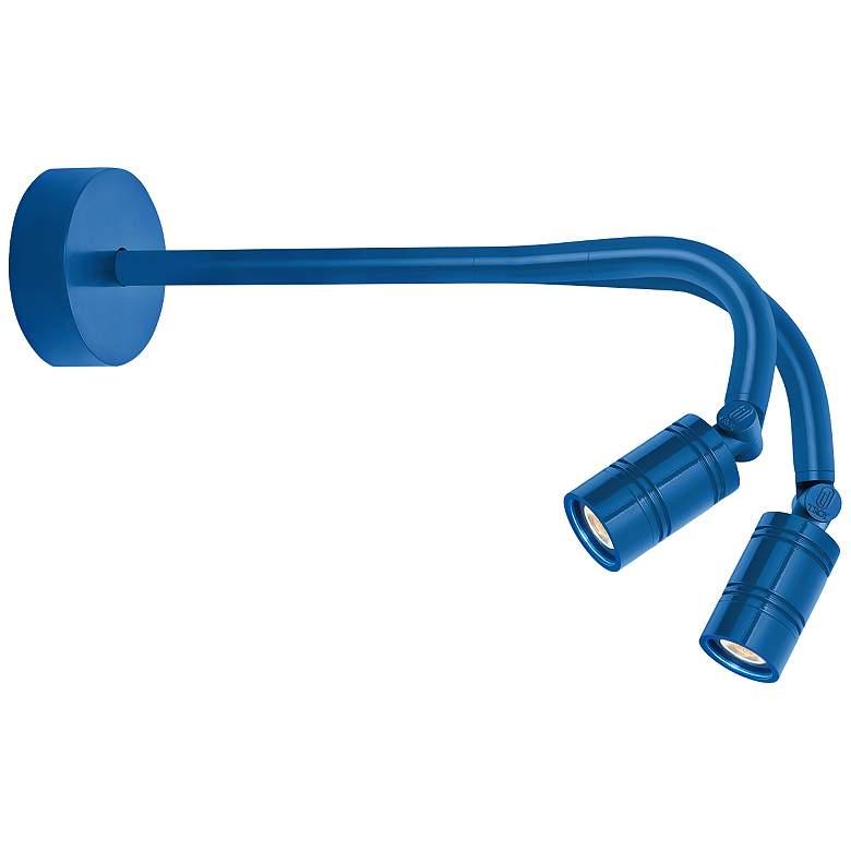 "RLM Bullet Head 10 1/2""H Blue Dual LED"
