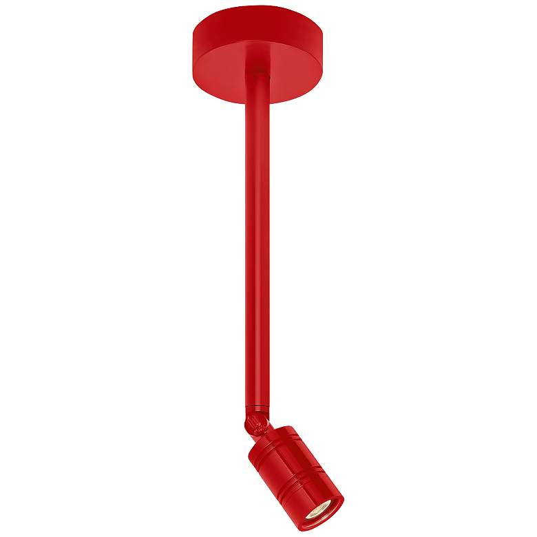 """RLM Bullet Head 2 1/4"""" Wide Red LED Outdoor Ceiling Light"""