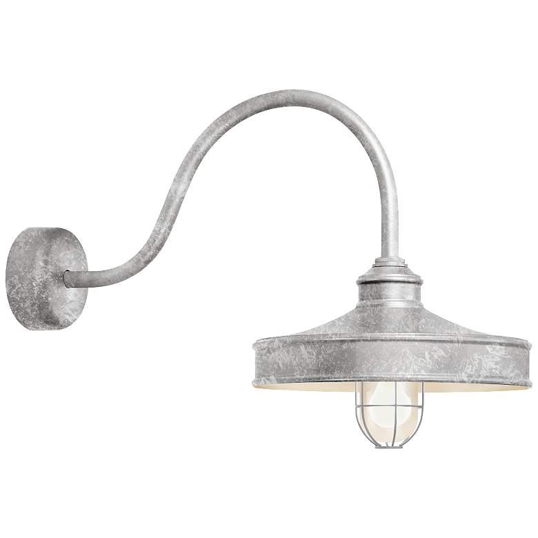 """RLM Nostalgia 18"""" High Outdoor Wall Light in Galvanized"""