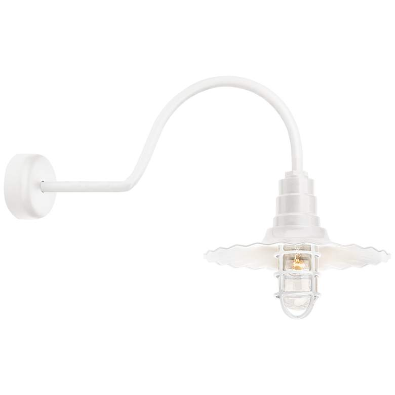 """RLM Radial Wave 15 3/4"""" High Gloss White Outdoor Wall Light"""