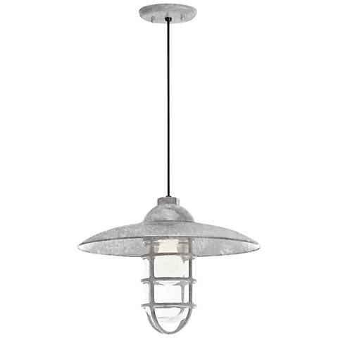 "RLM Retro Industrial 9 3/4""H Outdoor Hanging Light"