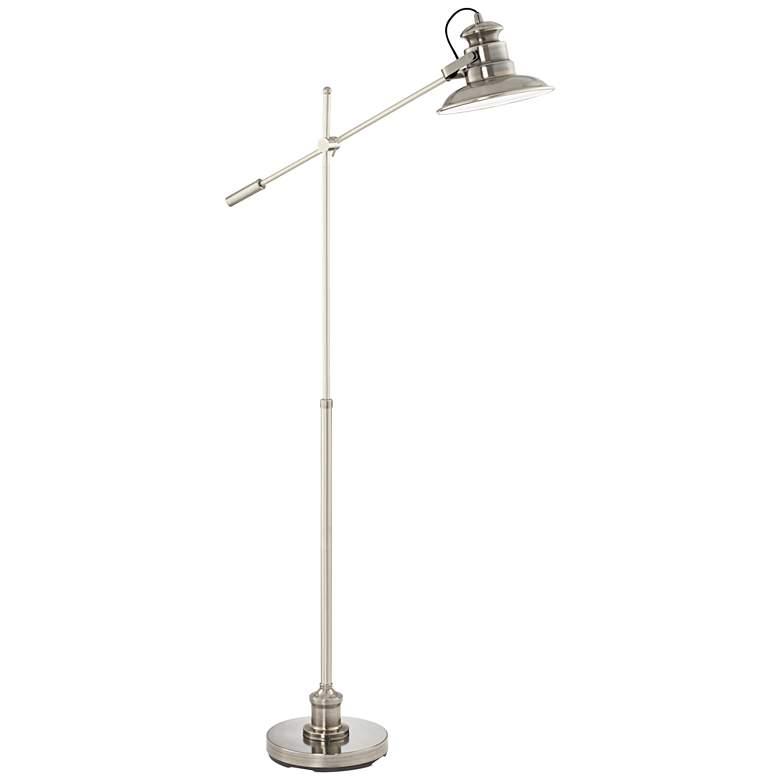 Admiral Satin Nickel Pharmacy Floor Lamp
