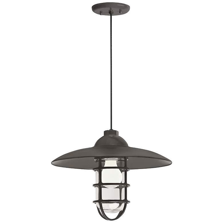 """RLM Retro Industrial 9 3/4""""H Bronze Outdoor Hanging Light"""
