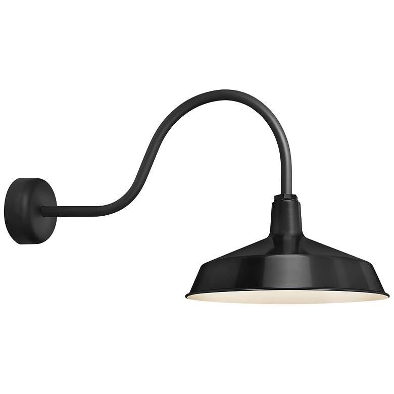 """RLM Standard 19"""" High Black Outdoor Wall Light"""