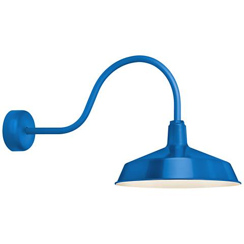 "RLM Standard 19"" High Outdoor Wall Light in Blue"