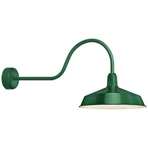 """RLM Standard 19"""" High Hunter Green Outdoor Wall Light"""