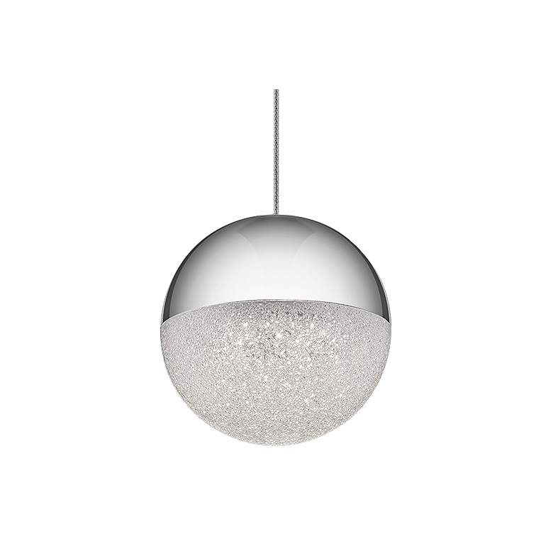 "Elan Moonlit 4 3/4"" Wide Chrome LED Mini"