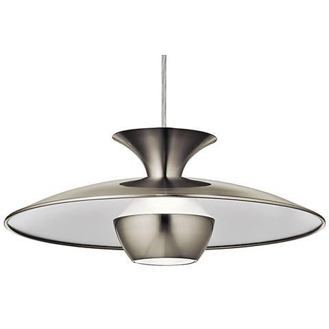 "Elan Scope 15 3/4"" Wide Brushed Nickel LED Pendant Light"